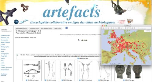 Exemple de cartographie sur Artefacts